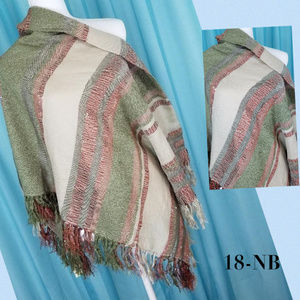 Collection 18 Olive Multi-Color Stripe Scarf 48X48